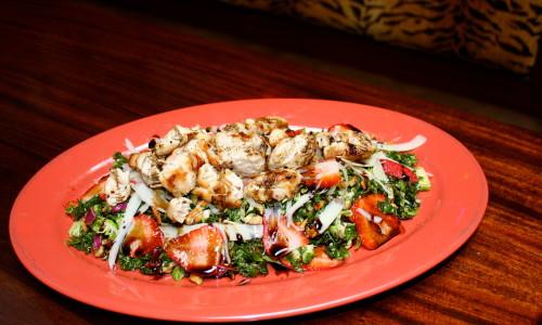 zoom into kale salad for menu